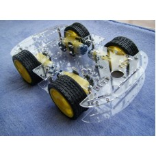 4WD Robot Smart Car Chassis Kit (Black Chassis)