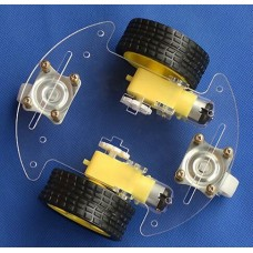 Round Smart Robot Car Chassis (clear)